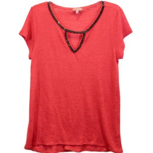 Juicy Couture Short Sleeve V-Neck Top - L
